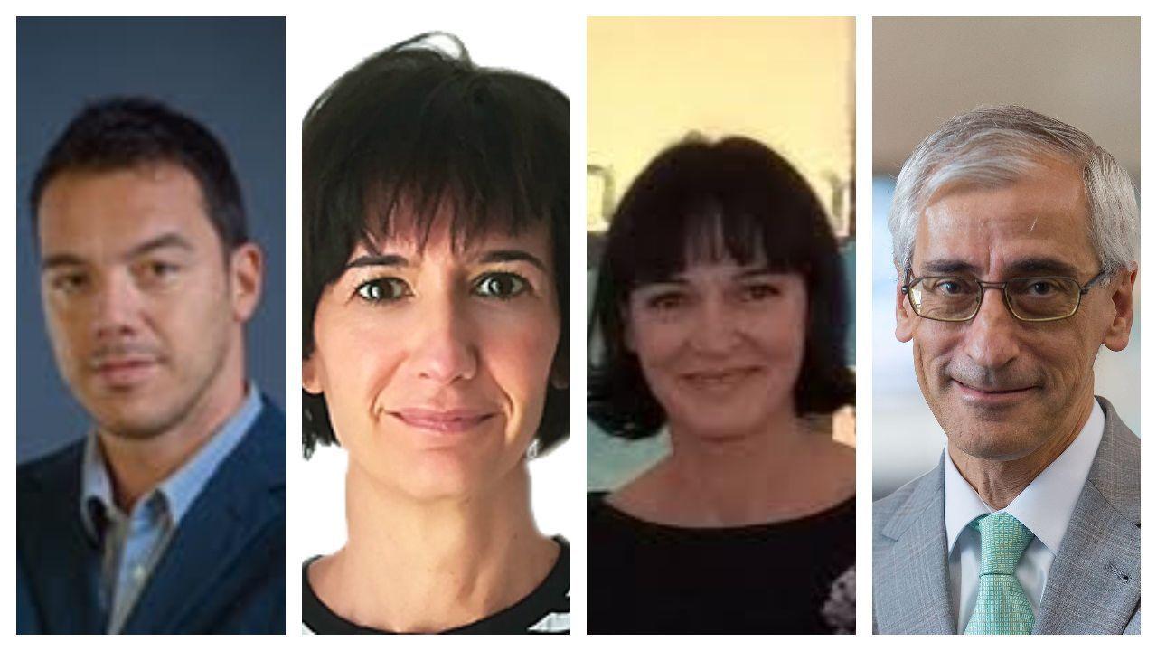 De izquierda a derecha: Santiago Martínez, Carmen Lumbierres, Elena García y Carlos Barrera