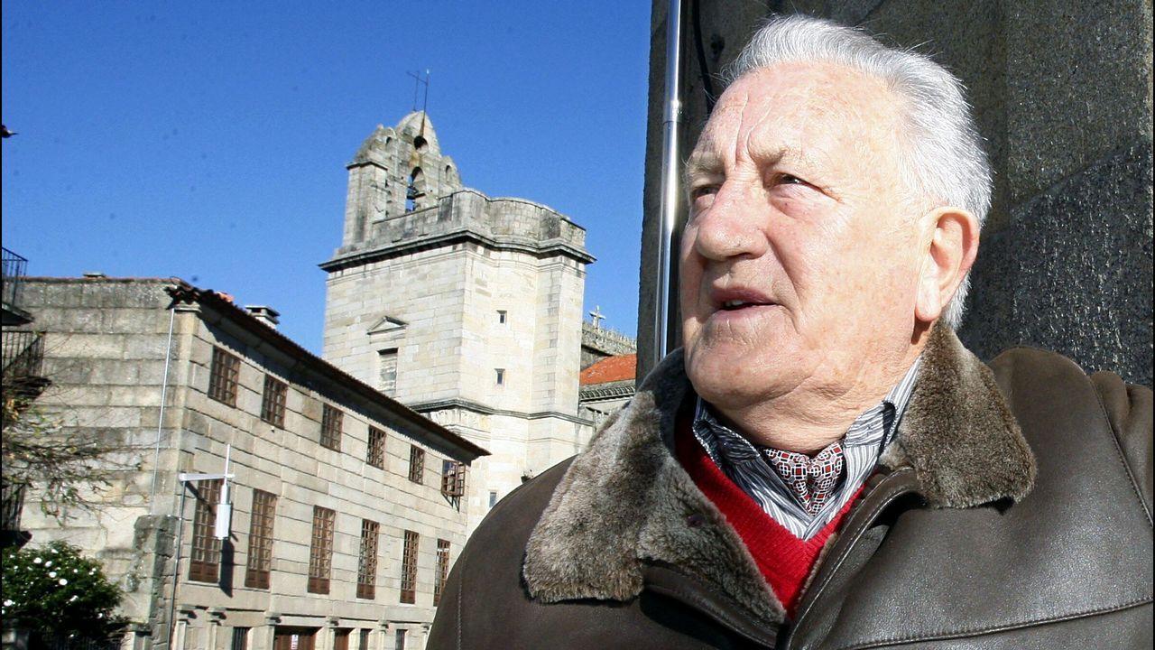Fraguas celebra o seu aniversario no ano 1995 en Santiago