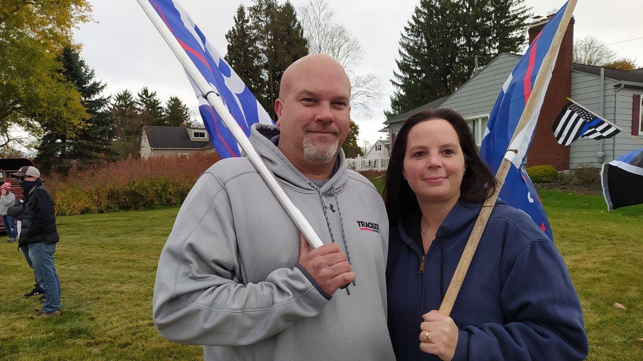 Keith y Tina Brodoloc, votantes republicanos del condado de Luzerne