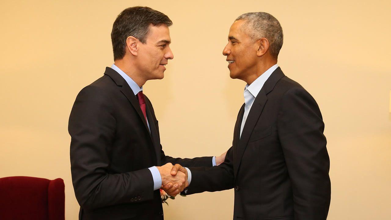El Rey de España visita junto a Obama el Museo Reina Sofía en Madrid.El rey descubrió a Obama los secretos del «Guernica»