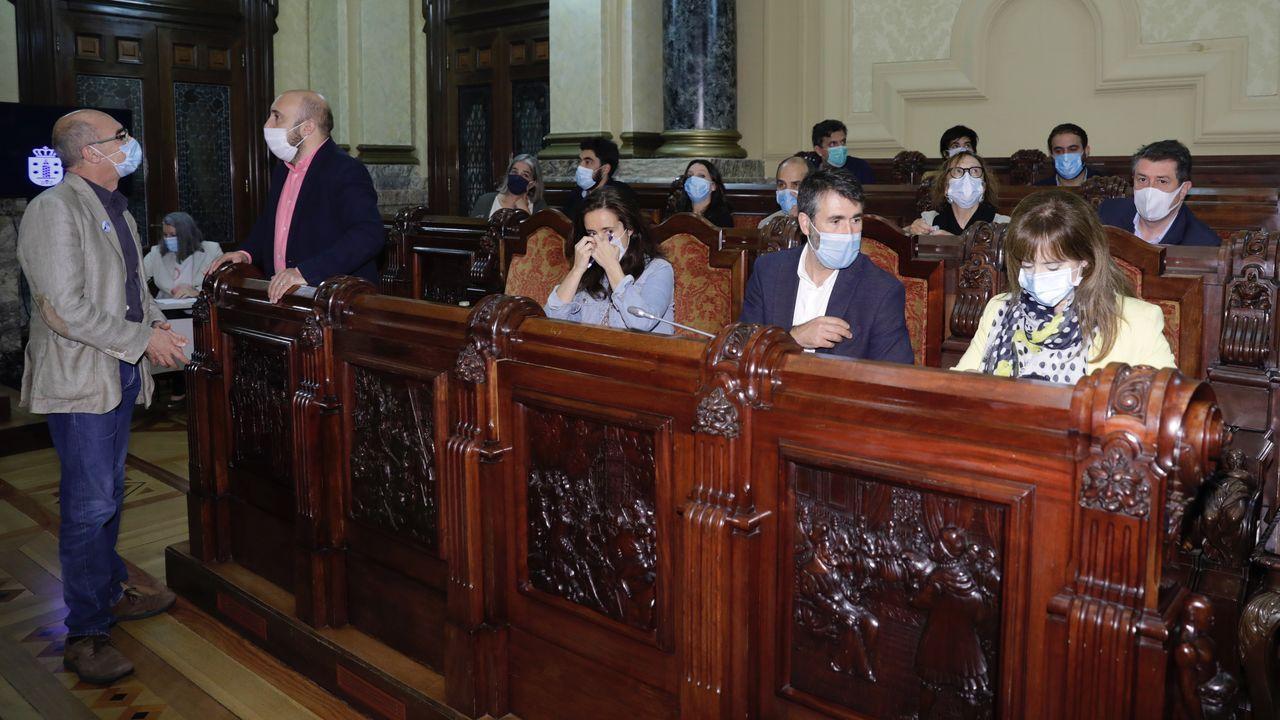 Asívotó A Coruña en las primeras elecciones poscovid.Mítin del PSdeG con Gonzalo Caballero y Pedro Sanchez