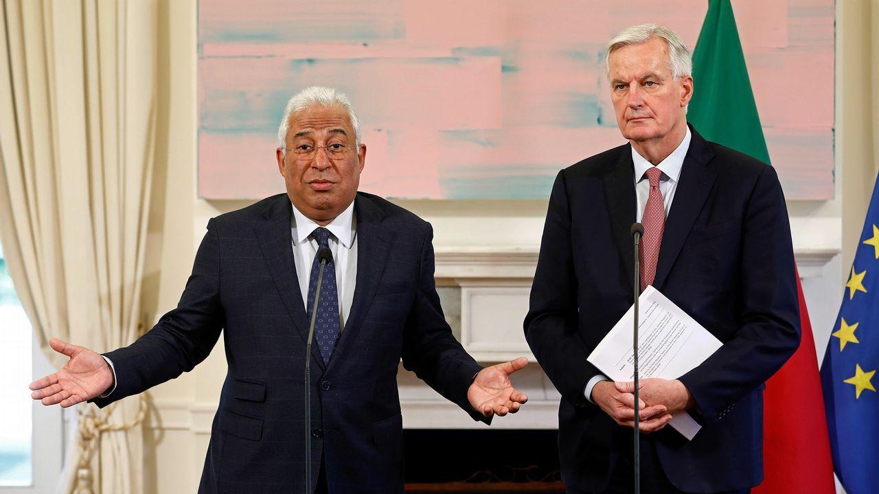 El negociador europeo Michel Barnier trató el estado actual del «brexit» con António Costa en Lisboa