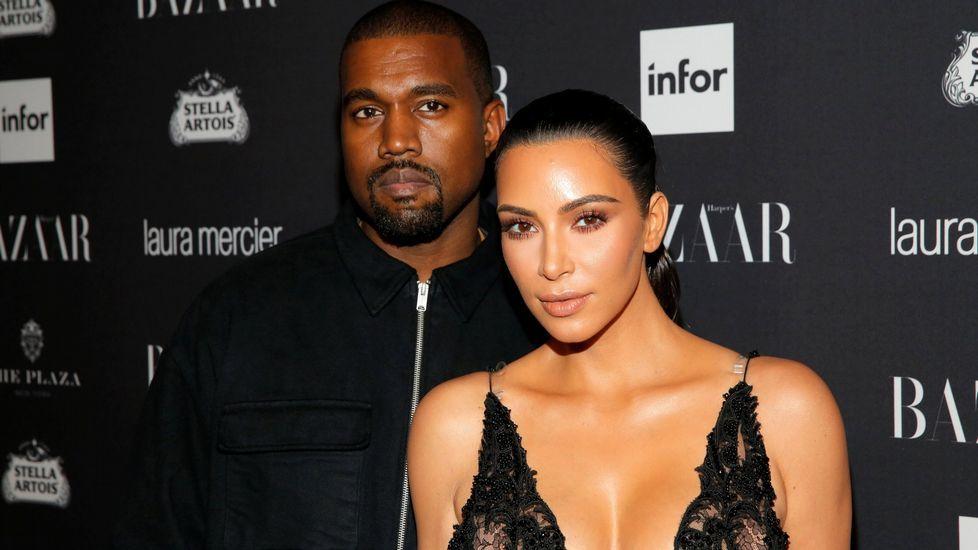 Kim Kardashian, junto a su marido