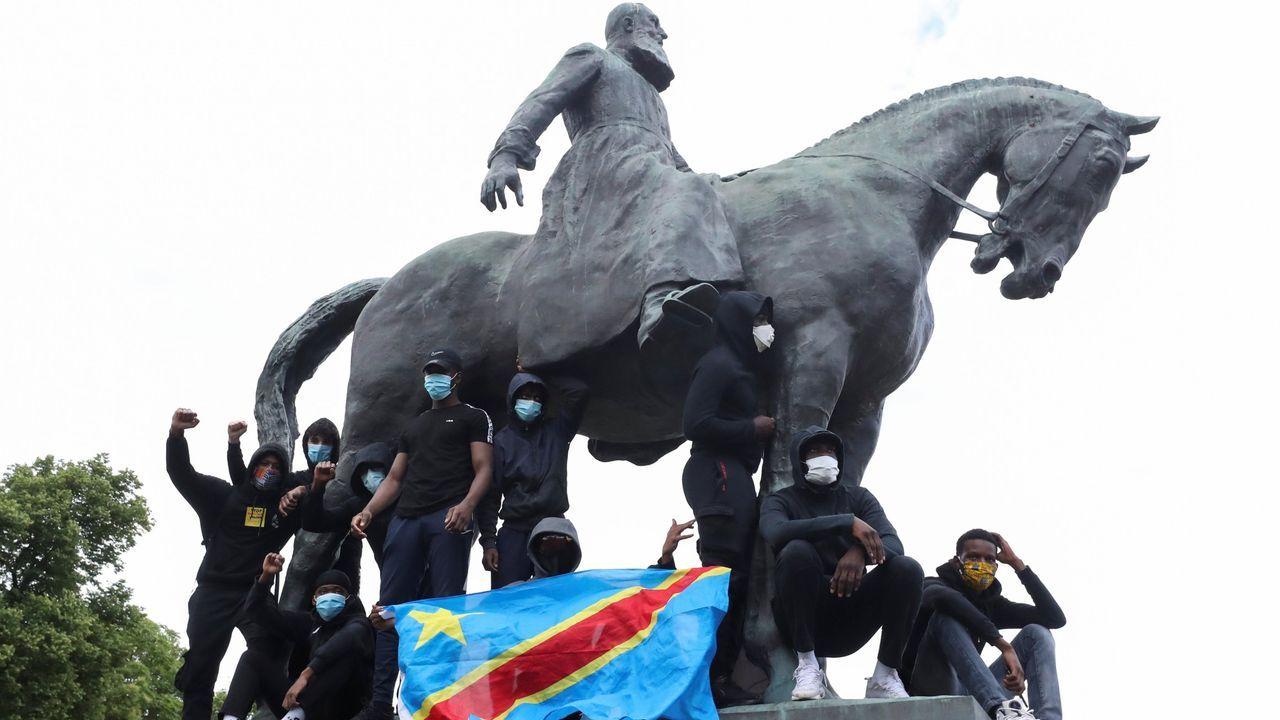 Estatua ecuestre del rey Leopoldo II en Bruselas