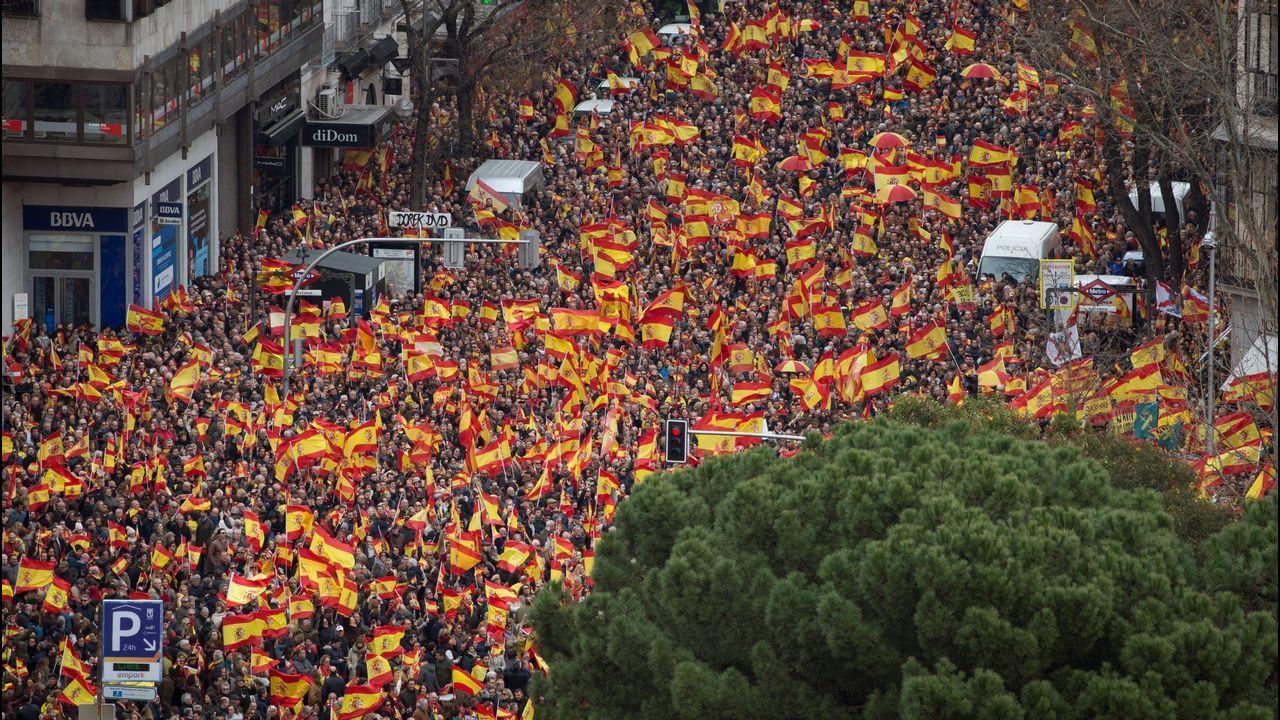 La Policía Nacional cifró en 45.000 el número de asistentes a la concentración de la plaza de Colón, en Madrid