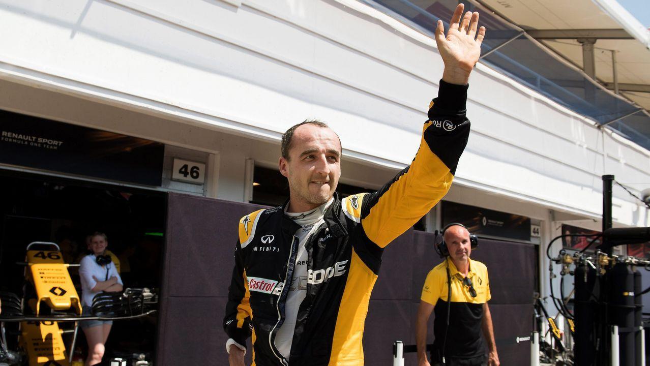 La vuelta de Kúbica a la Fórmula Uno, seis años después de su accidente.Fernando Alonso tras el Gran Premio de Hungría.