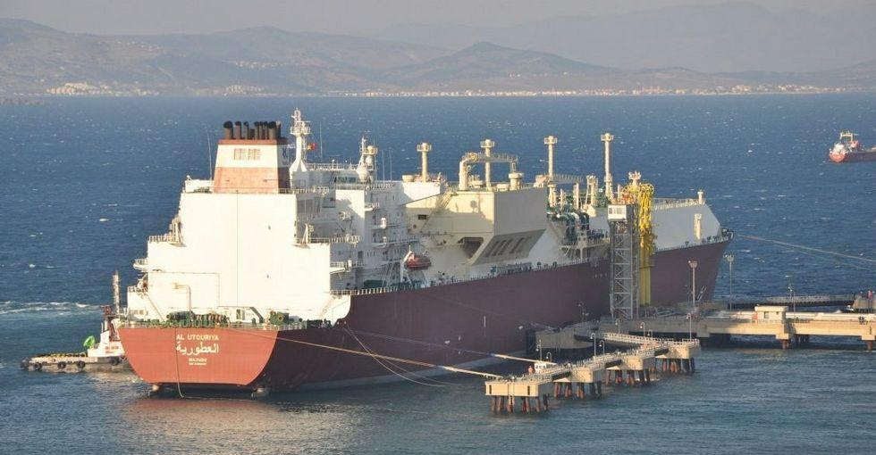 Reganosa recibe su mayor gasero, un buque catarí de 315 metros de eslora llamado «Al Utouriya»