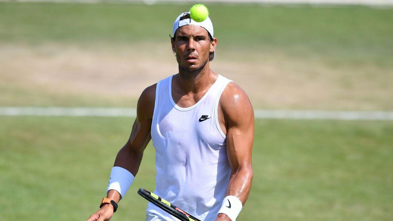 El tenista español Pablo Carreño durante el partido de la primera ronda del torneo de Wimbledon que se disputa en Londres, Reino Unido.