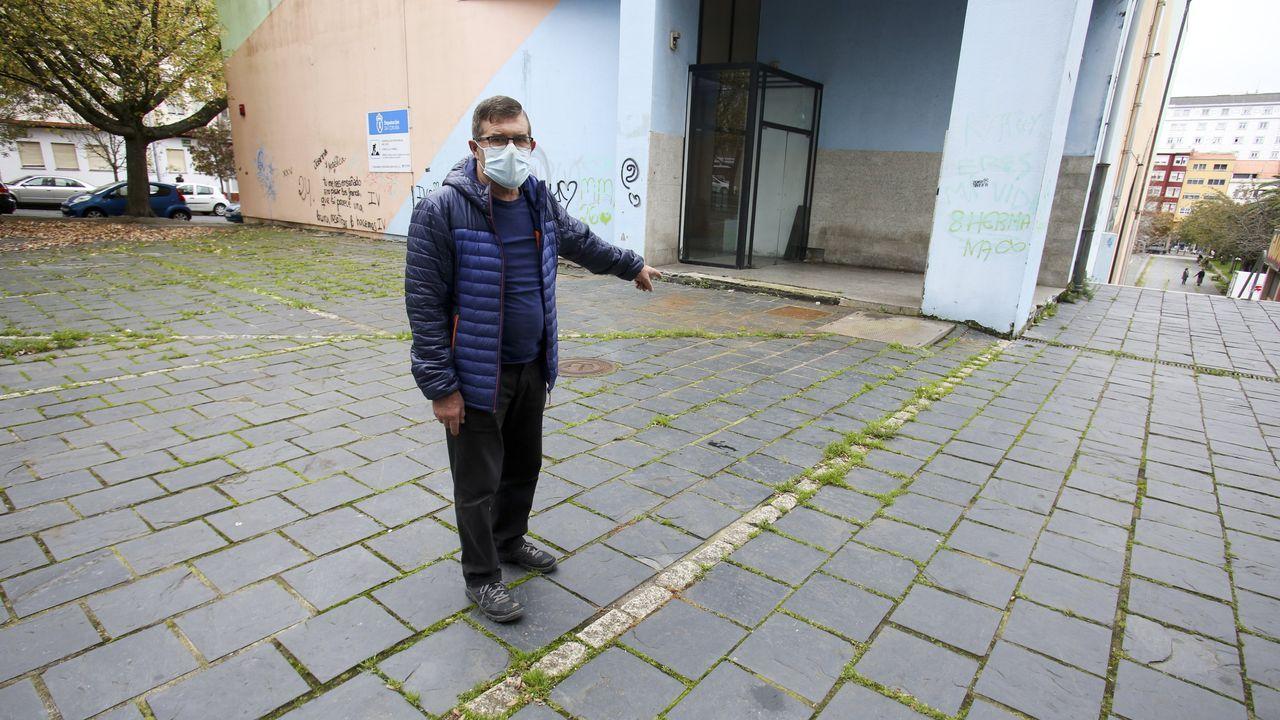 Bugallo, en el lugar donde encontró al herido de muerte