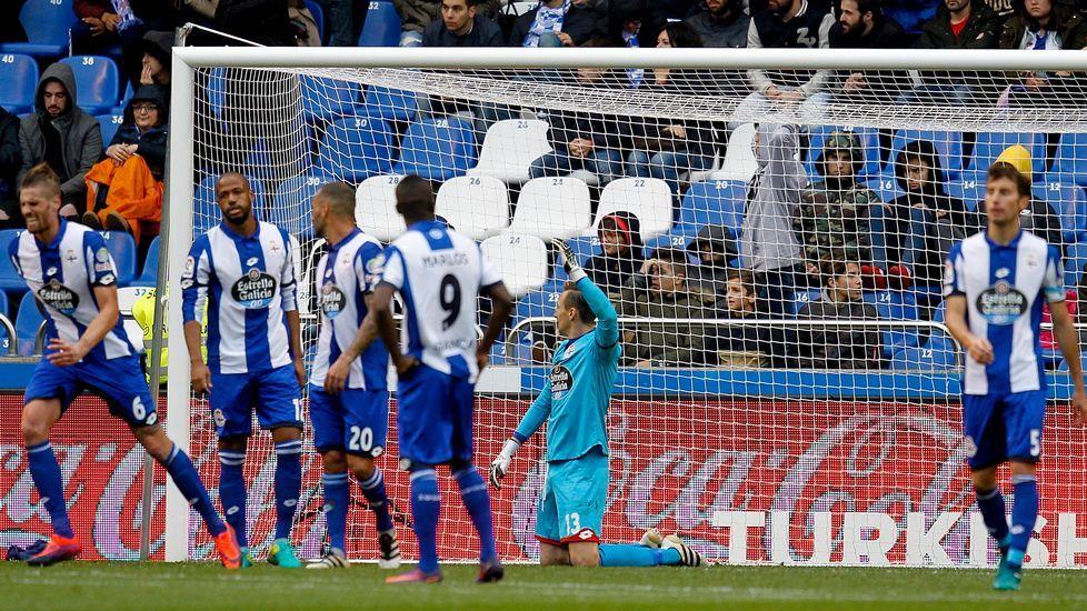 El Málaga-Deportivo, en fotos