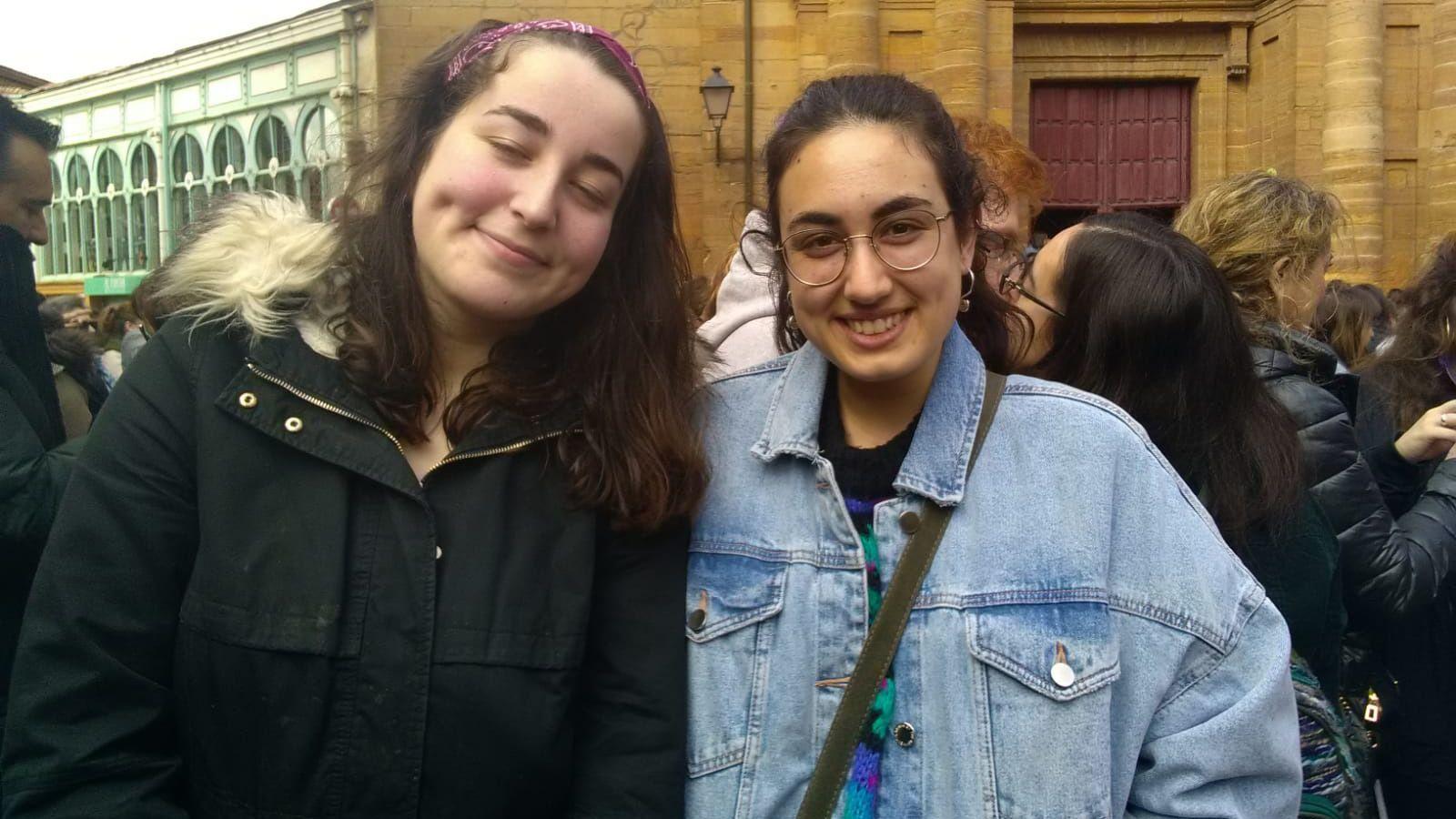 Celia Riyeros y Lidia Lasarte