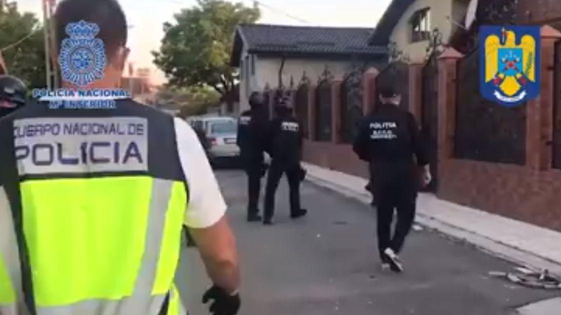 Operación conjunta de la Policía Nacional con la Policía de Rumanía.La playa de Salinas