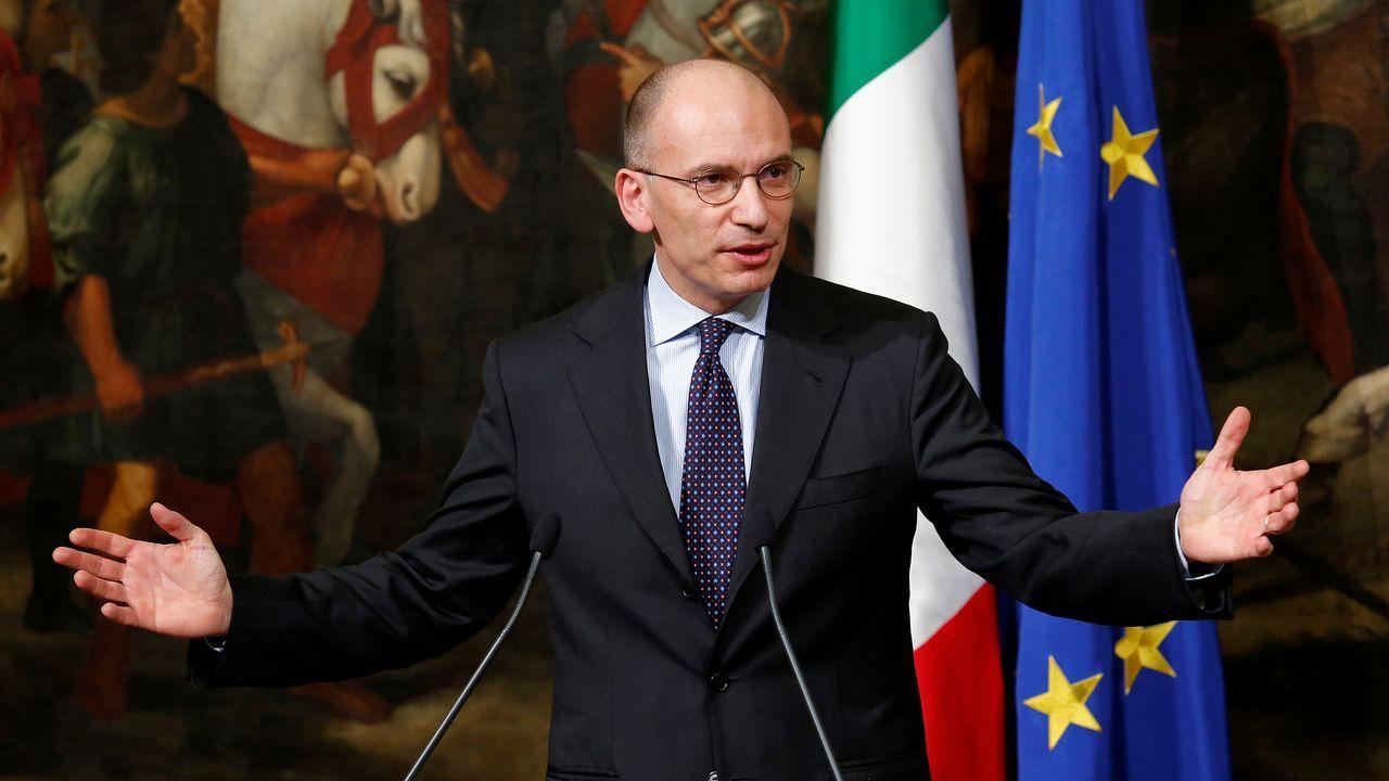 Enrico Letta, en el 2014 cuando era primer ministro de Italia