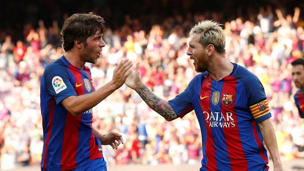 Sergi Roberto y Messi, cara y cruz del Barça para medirse al Dépor