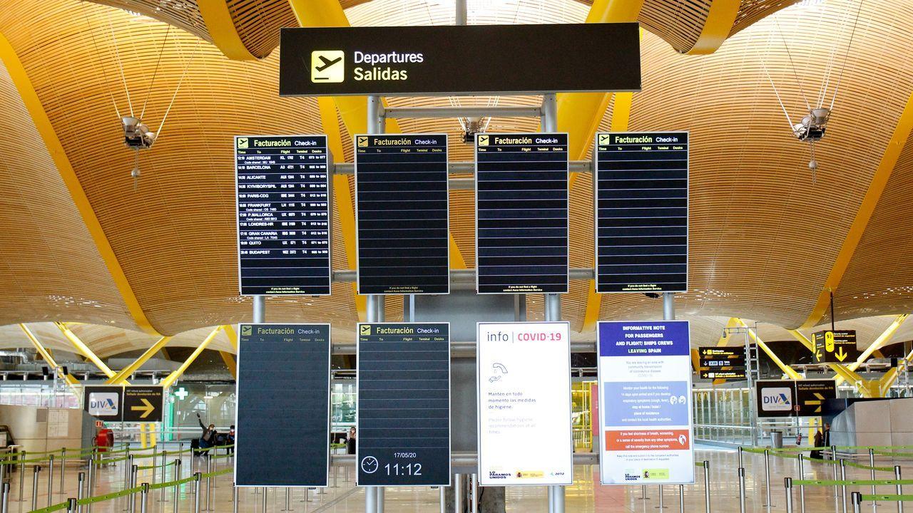 Peinador también desescala: llega el primer vuelo de Canarias.Aeropuerto de Asturias