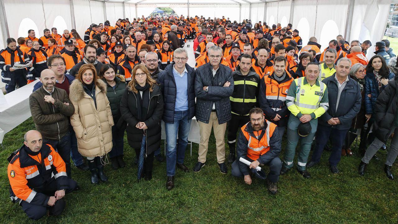 Jornada de convivencia de agrupaciones de Proteccíón Civil en Allariz.Más de 400 voluntarios se reunieron en esta jornada en Allariz. El vicepresidente de la Xunta, Alfonso Rueda, los visitó.