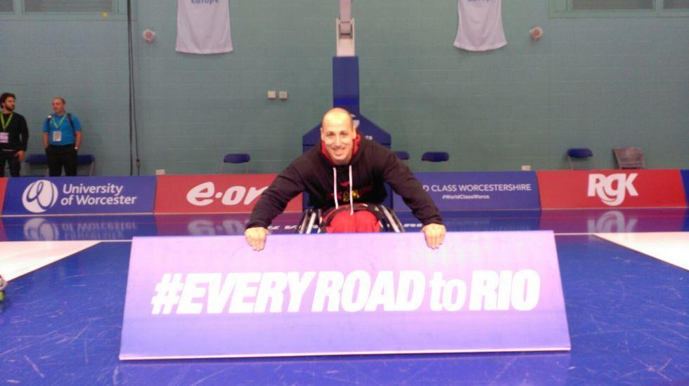 David Mouriz. Baloncesto en silla. Ya consiguió la quinta posición en Londres.