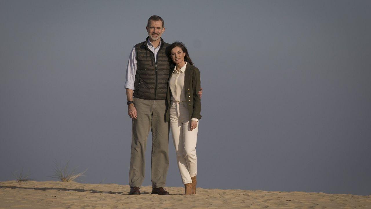 Felipe VI y Letzia en una visita al Parque Nacional de Doñana