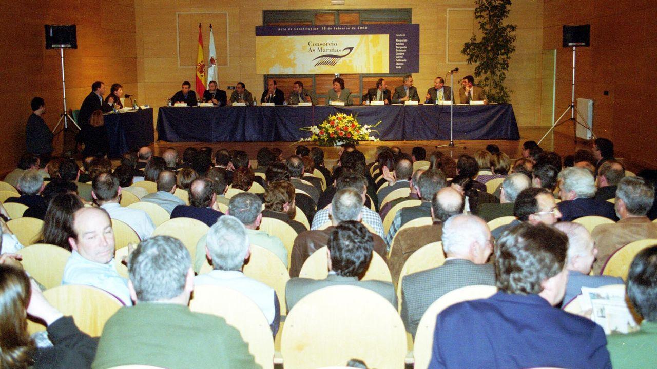 Asamblea del Consorcio llevada a cabo en el año 2000 en A Fábrica de Perillo