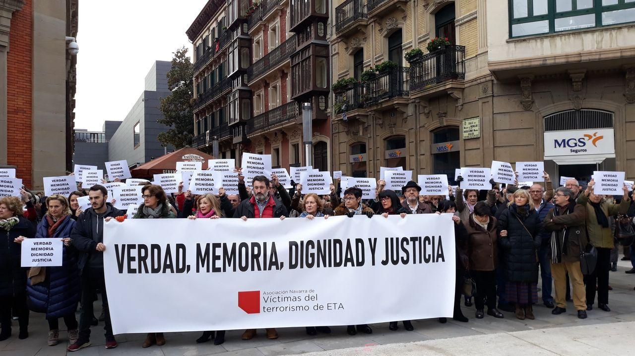 Vista general de la cárcel de Asturias.Concentración en el 2018 de la Asociación Navarra de Víctimas del Terrorismo de ETA (Anvite), en una imagen de archivo