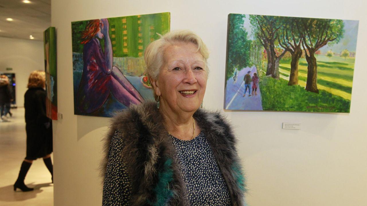 Conchita Montenegro nunha exposición no MIHL