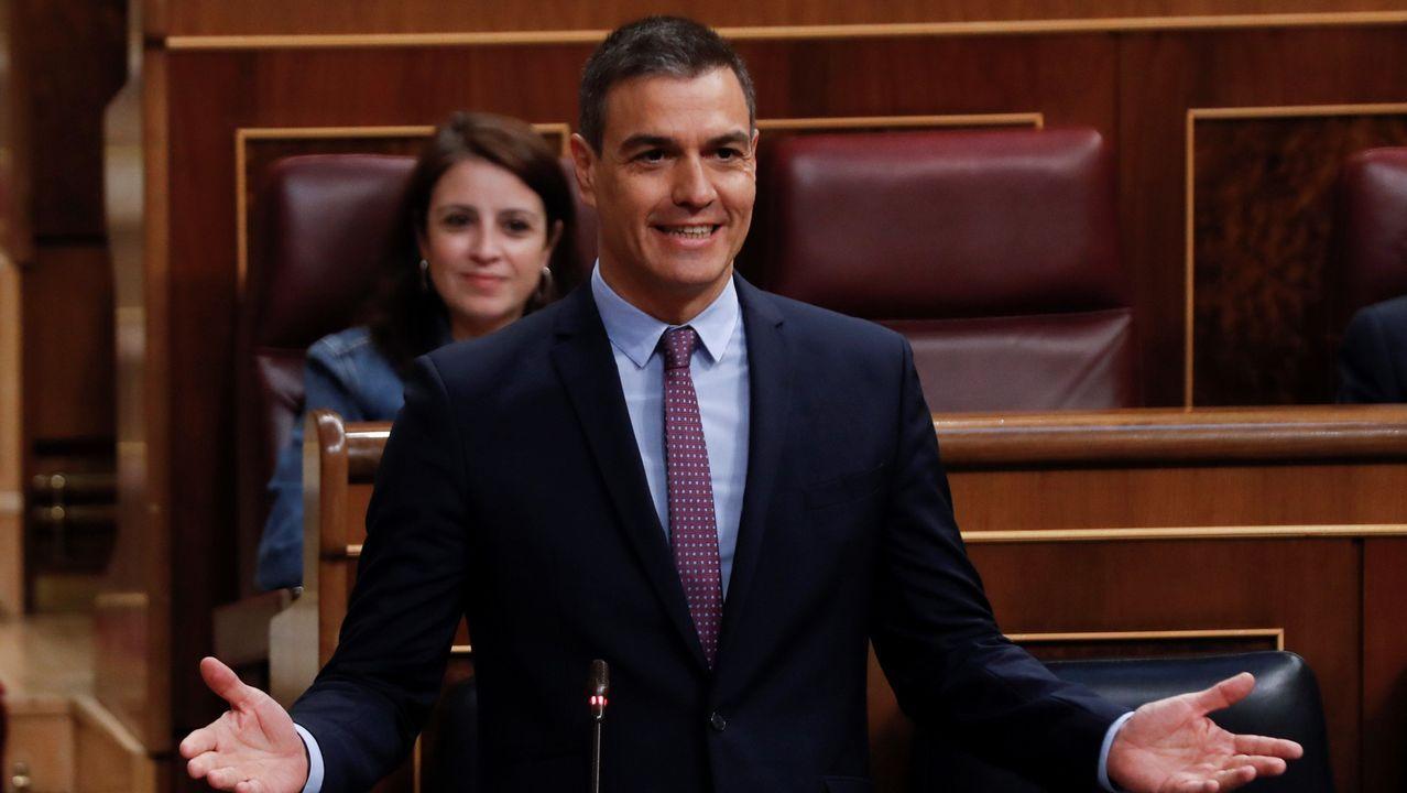 Pedro Sánchez, en una sesión de control al Gobierno