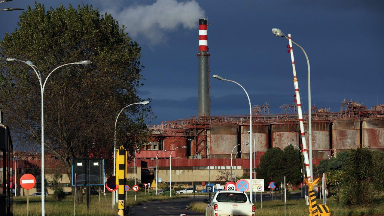 La fábrica de alúmina y aluminio, en San Cibrao, en una imagen de archivo