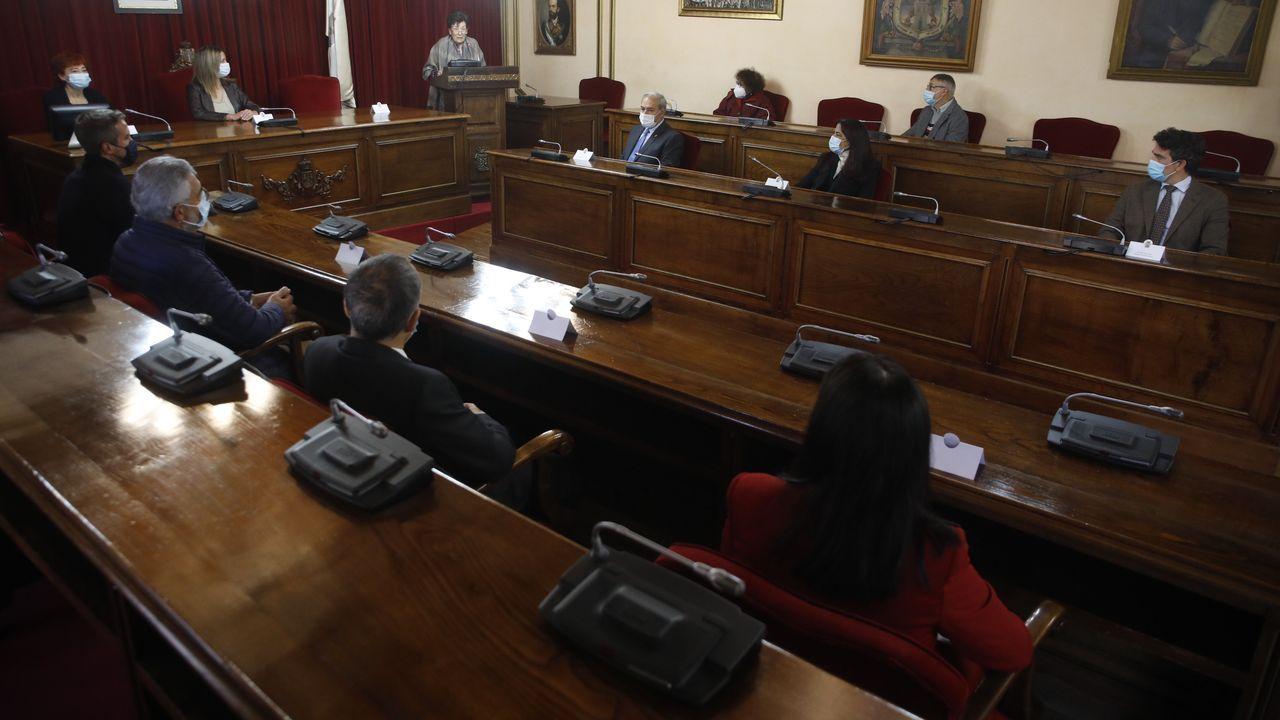 Pregón de Tonina Gay para abrir el San Froilán 2020 en el salón de plenos de Lugo