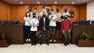 El equipo Bujansat fue recibido en el Ayuntamiento de Cambre tras ganar la fase española