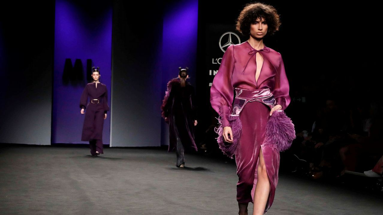 Presentación de la colección Otoño - Invierno 2019-20 del diseñador Marcos Luengo en la Mercedes-Benz Fashion Week de Madrid, que se celebra estos días en el recinto ferial Ifema