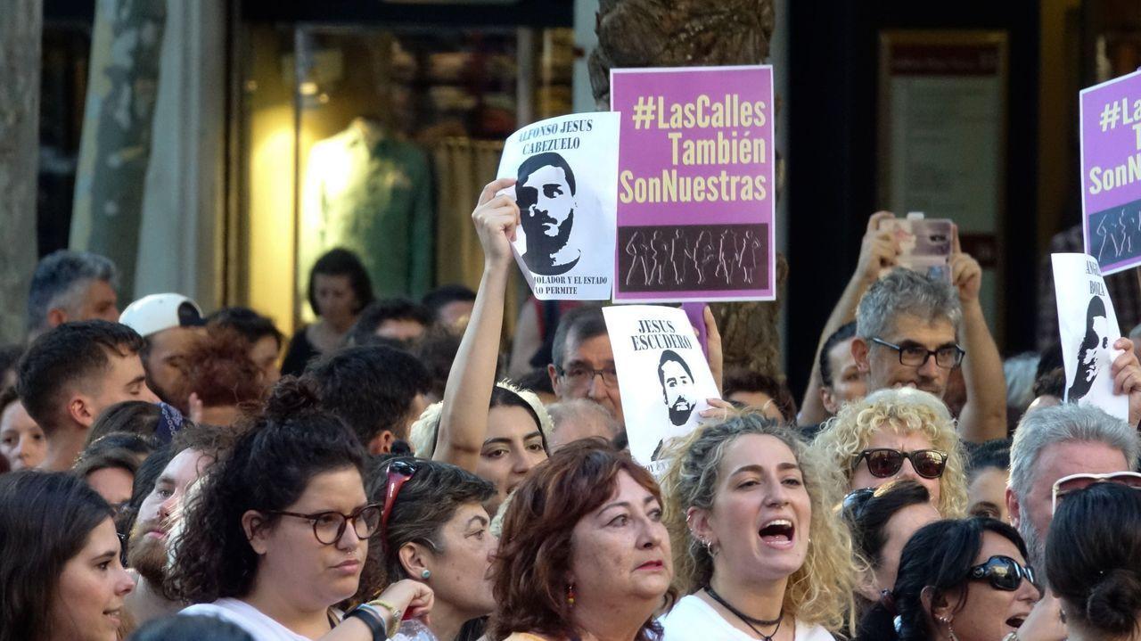 Otra condena a la «Manada» por los abusos sexuales de Pozoblanco.Imagen de archivo de una concentración contra la primera sentencia del caso de la Manada