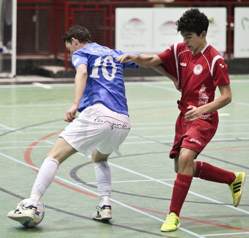 Uno de los partidos disputados en casa por el A Estrada Futsal.
