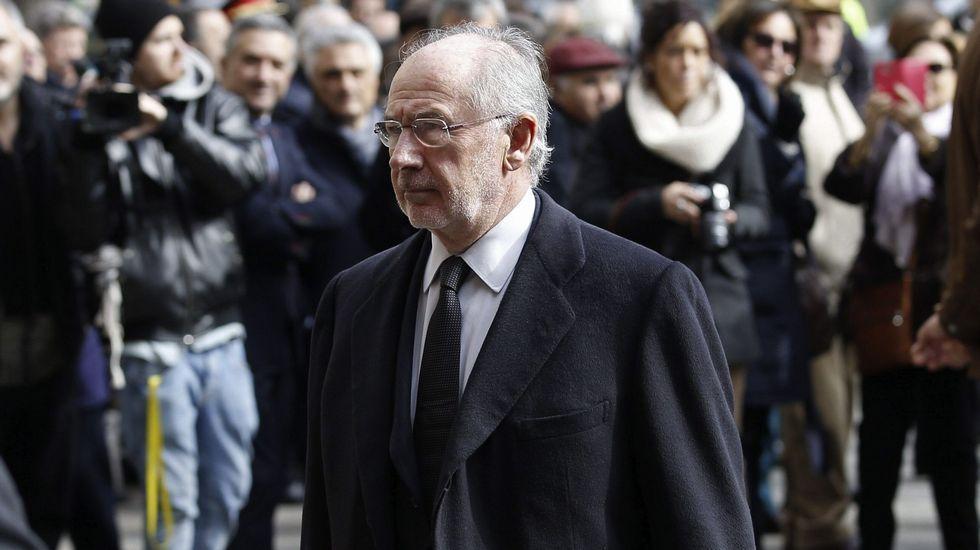 El expresidente de Caja Madrid y actual consejero de Bankinter, Jaime Terceiro, a su llegada a la Audiencia Nacional.