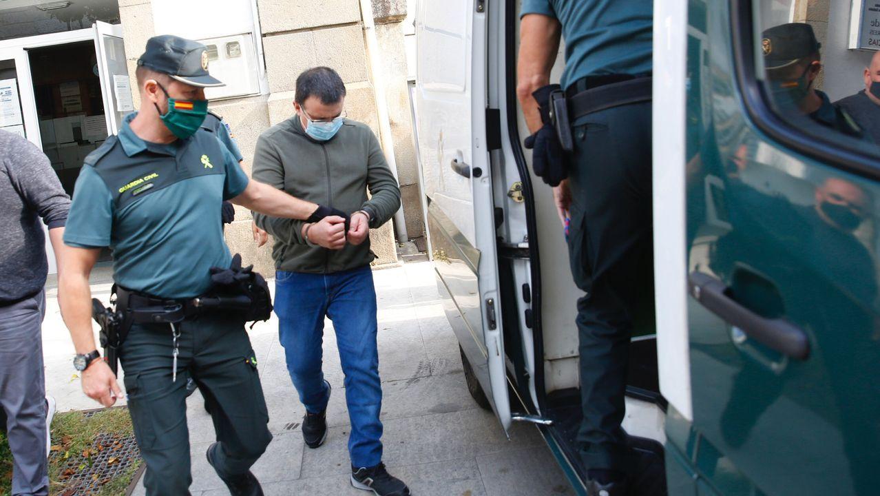 Jose Luis Abet, asesino de su ex-muller, ex-cuñada y ex-suegra en Valga vuelve al juzgado para una prueba de ADN