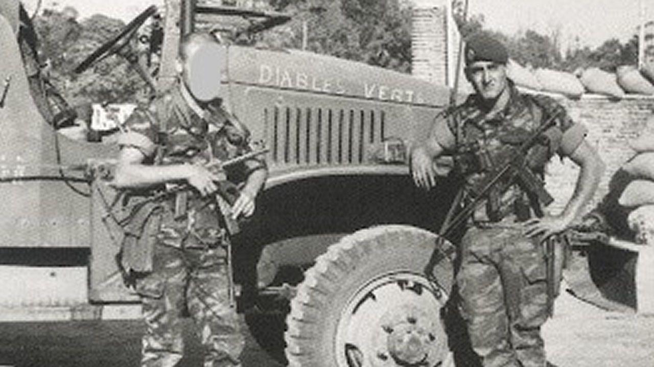 Michael Martin, en Zaire, alistado en la Legión Extranjera francesa