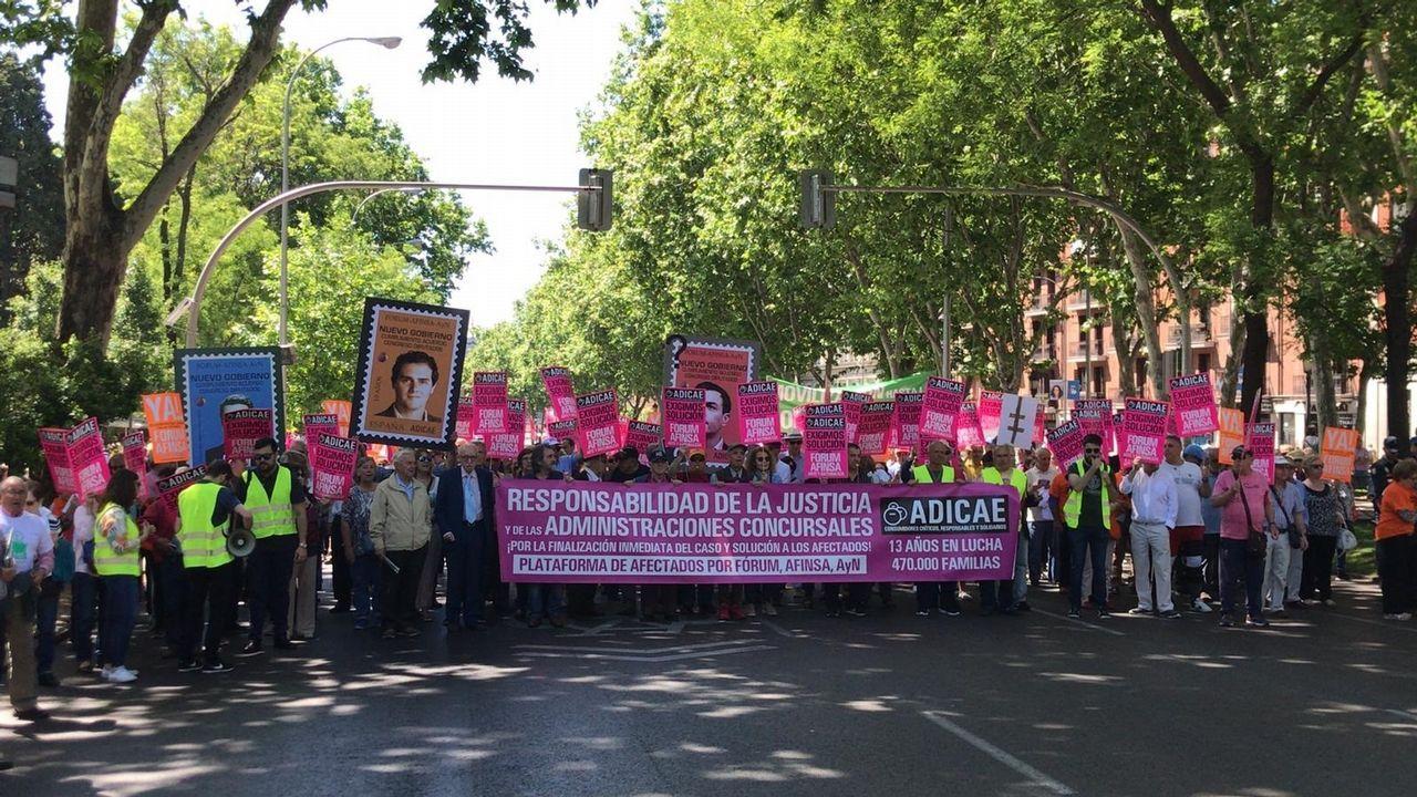Manifestación de Adicae en Oviedo