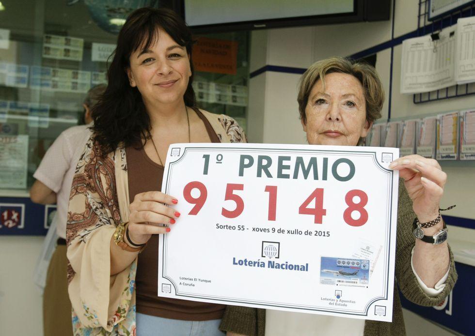 En Alcalde Lens repartieron 450.000 euros y en el pasadizo de El Corte Inglés 350.000 en sorteos celebrados la misma noche.