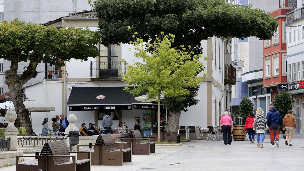 Vista de la alameda Basanta Olano y del tramo inicial de la calle Basanta Silva