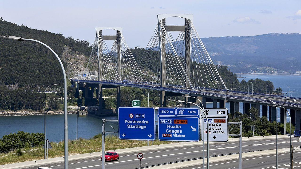 La AP-9 a su paso por Vigo, sin coches circulando el pasado mes de abril, en pleno estado de alarma