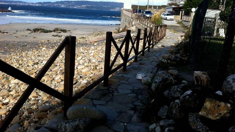 Carballo XXL.Temporal en la playa de A Frouxeira, en Valdoviño