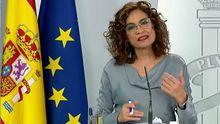 La portavoz del Gobierno, María Jesús Montero, en la ruda de prensa tras el Consejo de Ministros