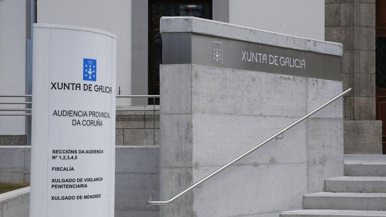 Nuevas dependencias de la Audiencia Provincial de A Coruña, donde también habrá reducciones