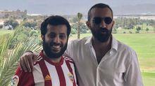Turki Al AlshikhMohamed El assy Almeria.Turki Al Alshikh, junto con el nuevo Director General de la UD Almería, Mohamed El assy