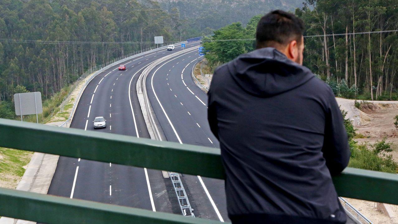 Transportistas: los que nunca se confinan.Imagen del túnel de O Sartego, en la AP-9 en Fene