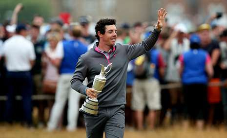 Rory celebra eufórico la victoria.