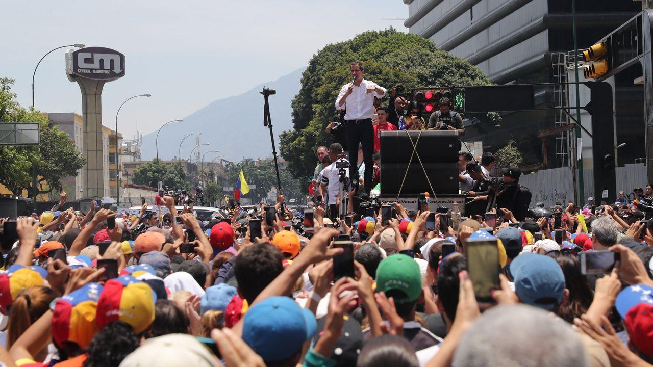 Juan Guaidó, durante su intervención de este 1º de Mayo