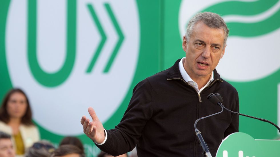«Los gallegos han apostado por un gobierno seguro».Iñigo Urkullu, lendakari y candidato a la reelección