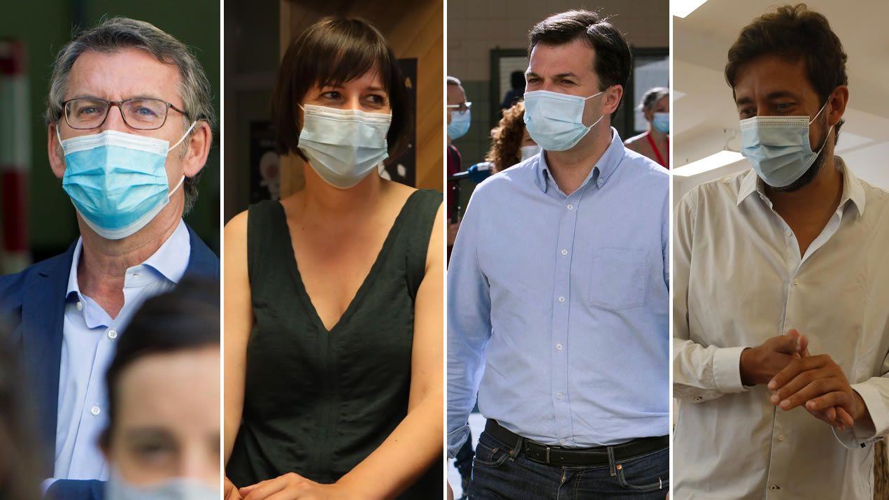 Yolanda Díaz, Xosé Manuel Beiras y Pablo Iglesias en una imagen del 2015