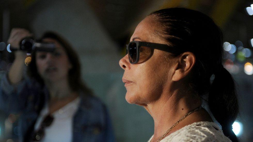 Isabel Pantoja sale de la cárcel con un permiso.Expectación a las puertas de la cárcel de Alcalá de Guadaíra por la probable salida de Pantoja