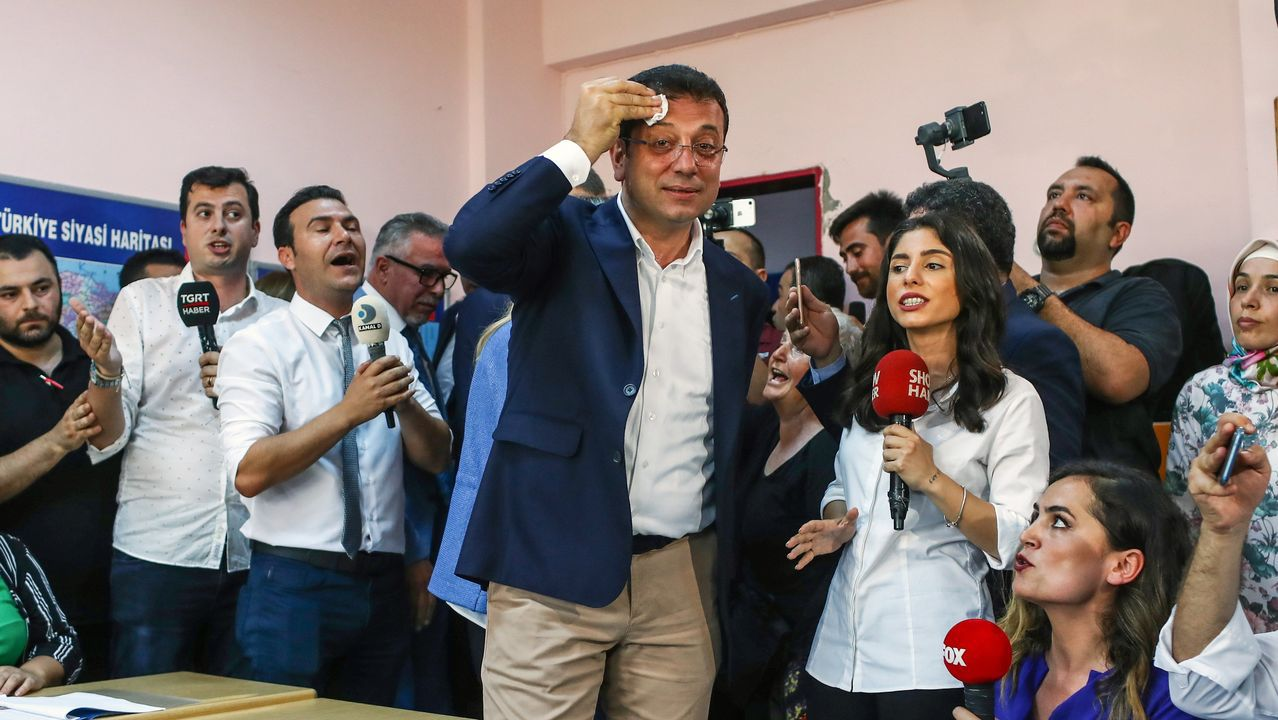 Ekrem Imamoglu, líder del Partido Republicano del Pueblo (CHP)